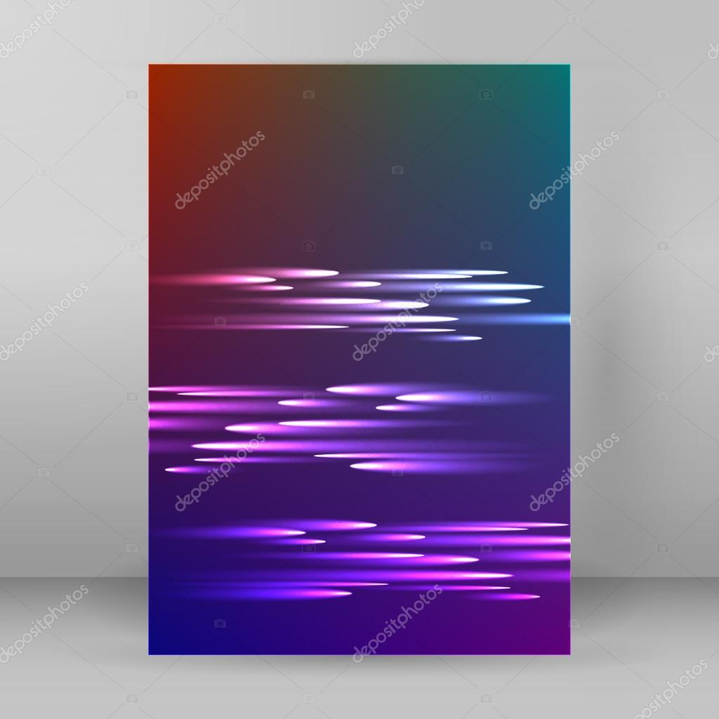 Abstract Background Advertising Brochure Design Elements Futuristic Style Glow Neon Disco Club Night Party For Elegant Flyer Illustration Layout Page