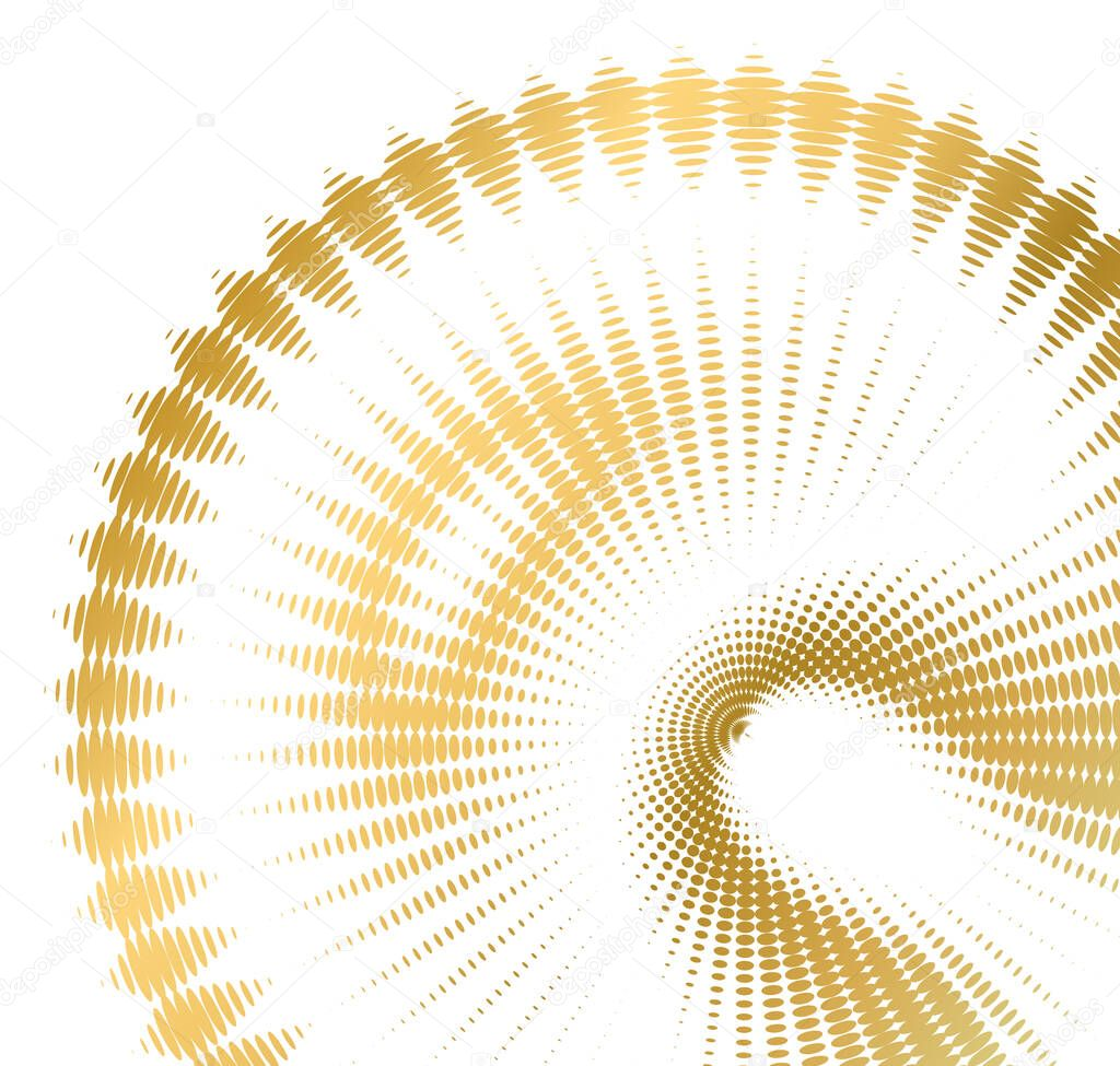 Design elements symbol effect dots fingerprint - Editable icon - silhouette heart  isolated gold on white background icon