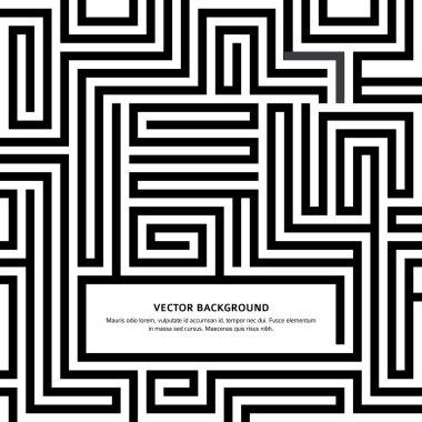 Maze-black-white-background-your-message