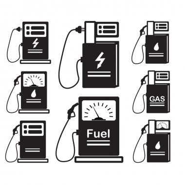 set-of-icons-refueling-car-diesel-gas