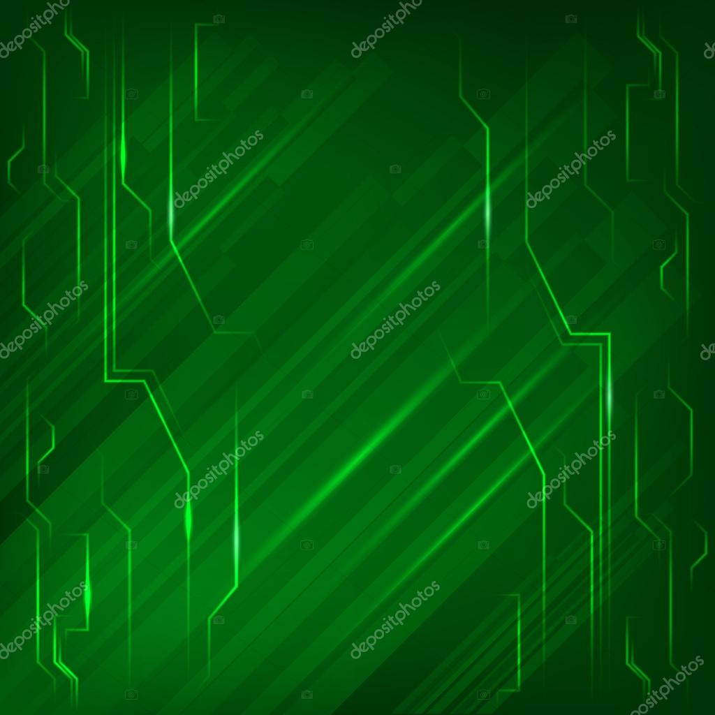 Electronics Page Background Green Light Bright Line Stock Vector C Silvercircle 61050179