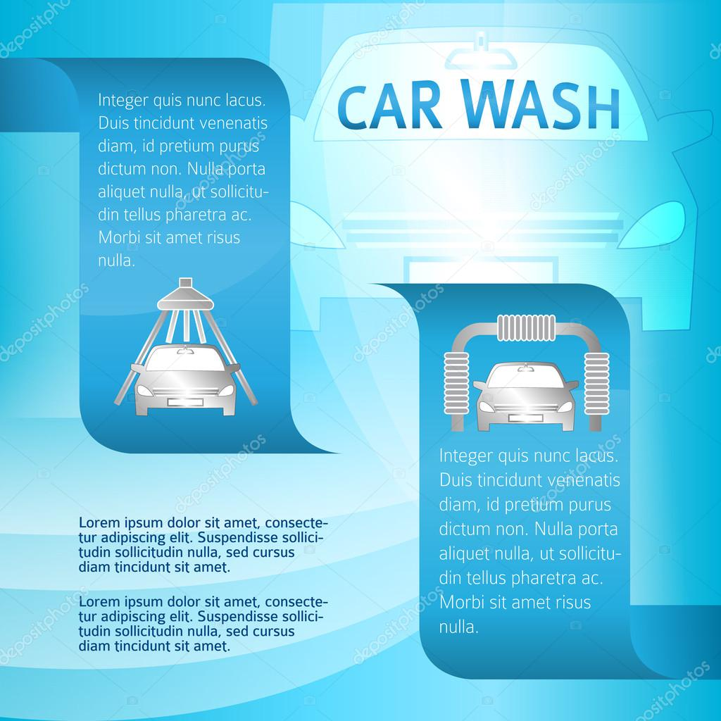 servicio-coches-lavado-banner-plantilla — Vector de stock ...