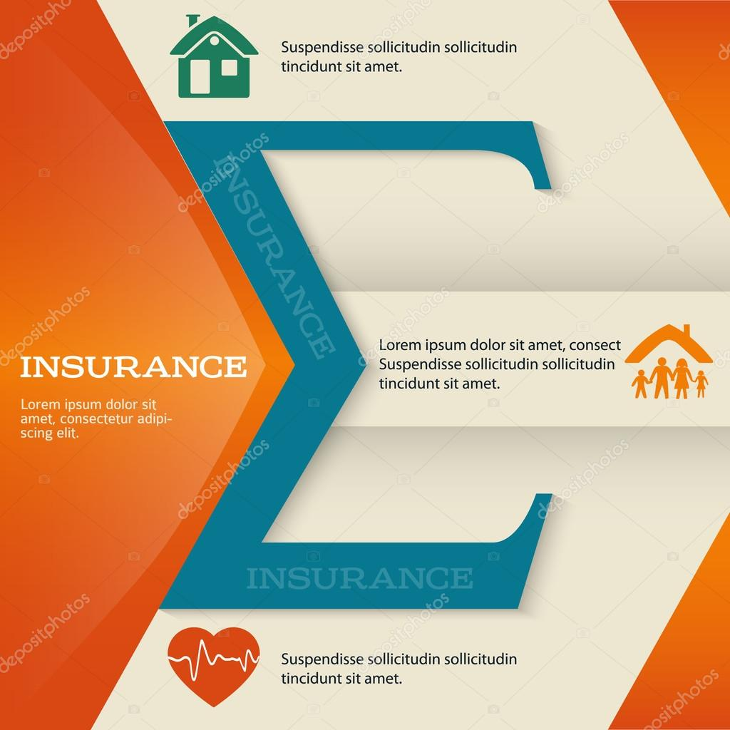 insurance brochure template business style presentation ストック