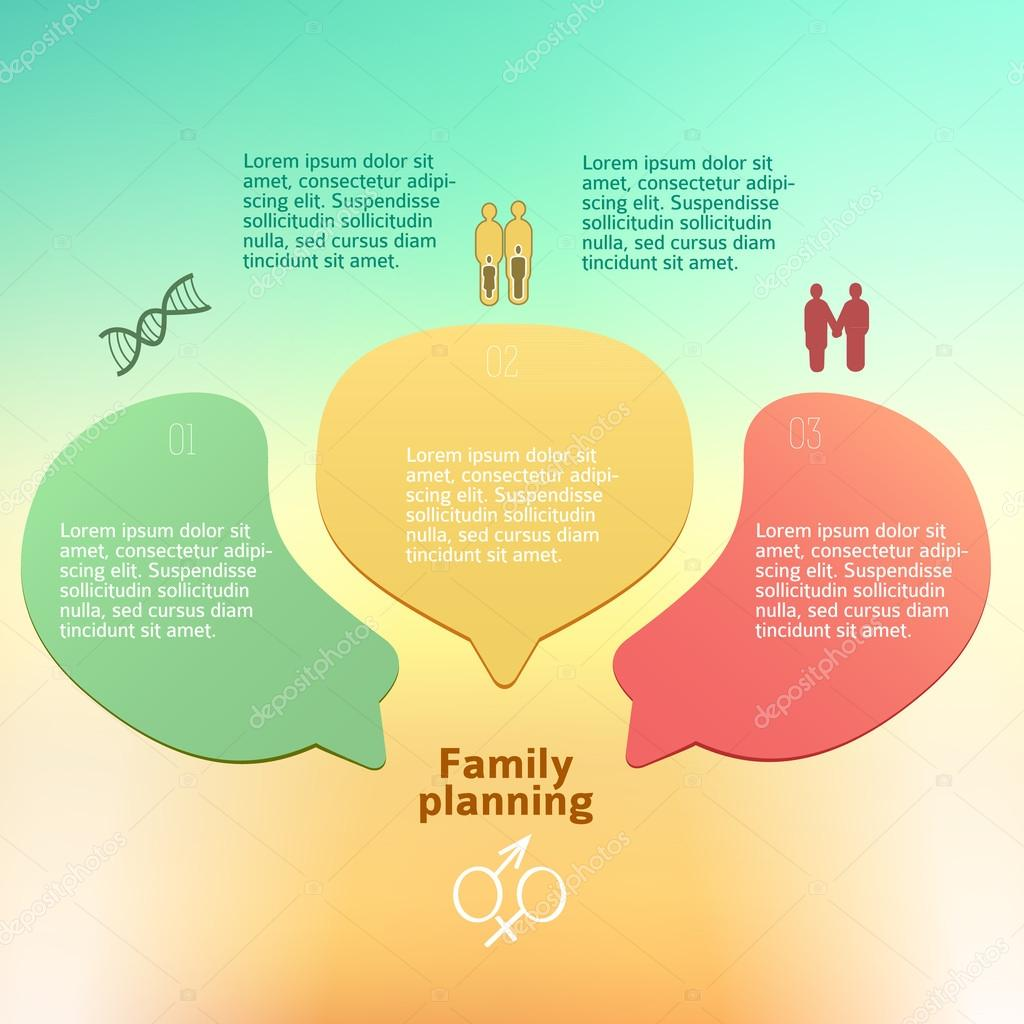 Family Planning Concept Background Brochure Page Stock