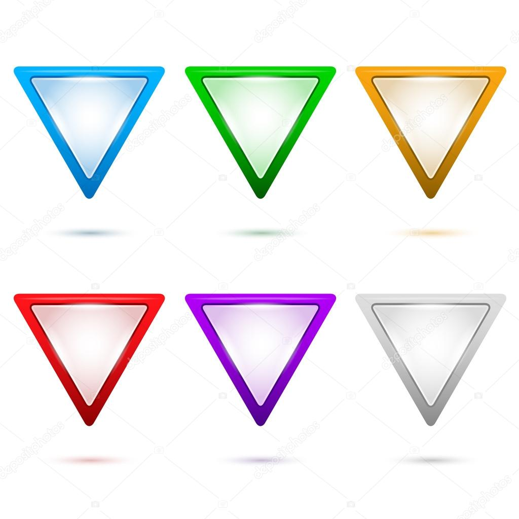 Map-pointer-triangle-set-of-color