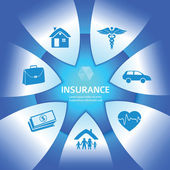 Fényképek Insurance-Services-glows-Bright-Blue-background