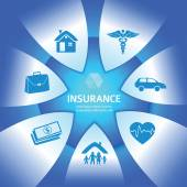Fotografie Insurance-Services-glows-Bright-Blue-Background