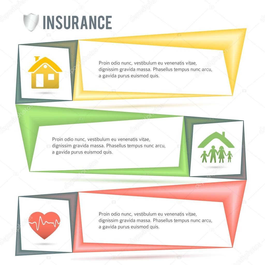 seguros-servicios-empresa-presentación-plantilla — Vector de stock ...