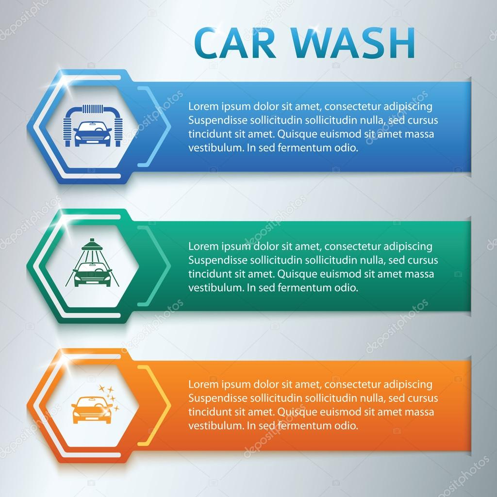Car-Wash-horizontal-banner-Set-Gray-Background — Vector de stock ...