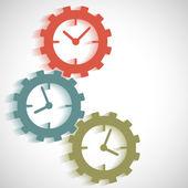 Ikony na časové ose koncepce hodiny na zařízení