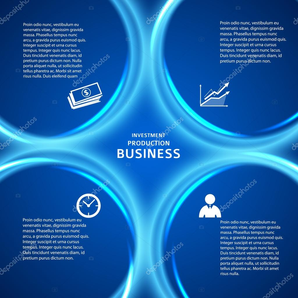 business presentation template blue background cover page — stock, Presentation templates