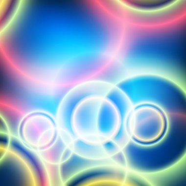 festive background blurred circles on blue gradient