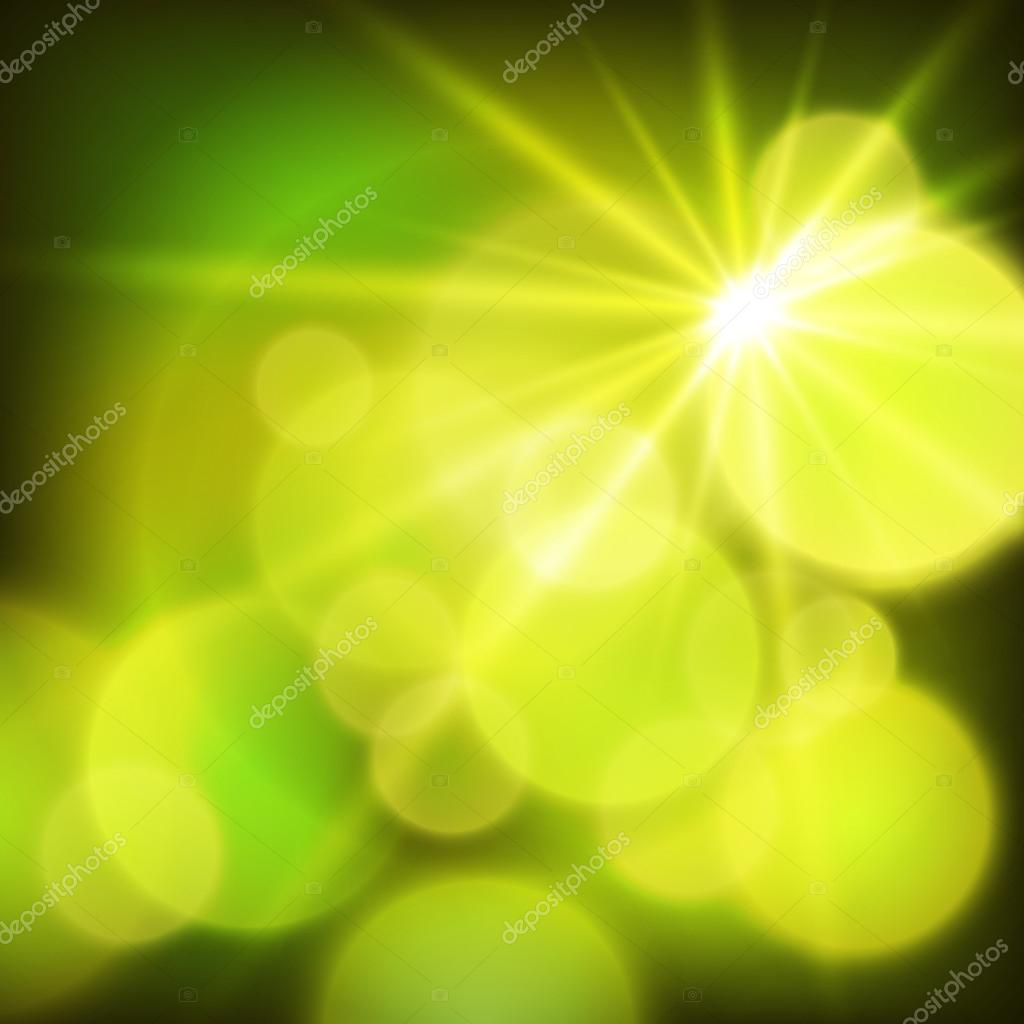 ecology background glowing circles the sun rays effect