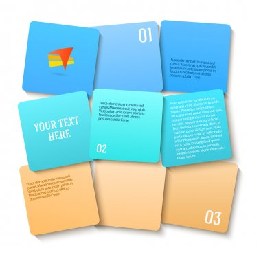 square displacement gradient color beach presentation template