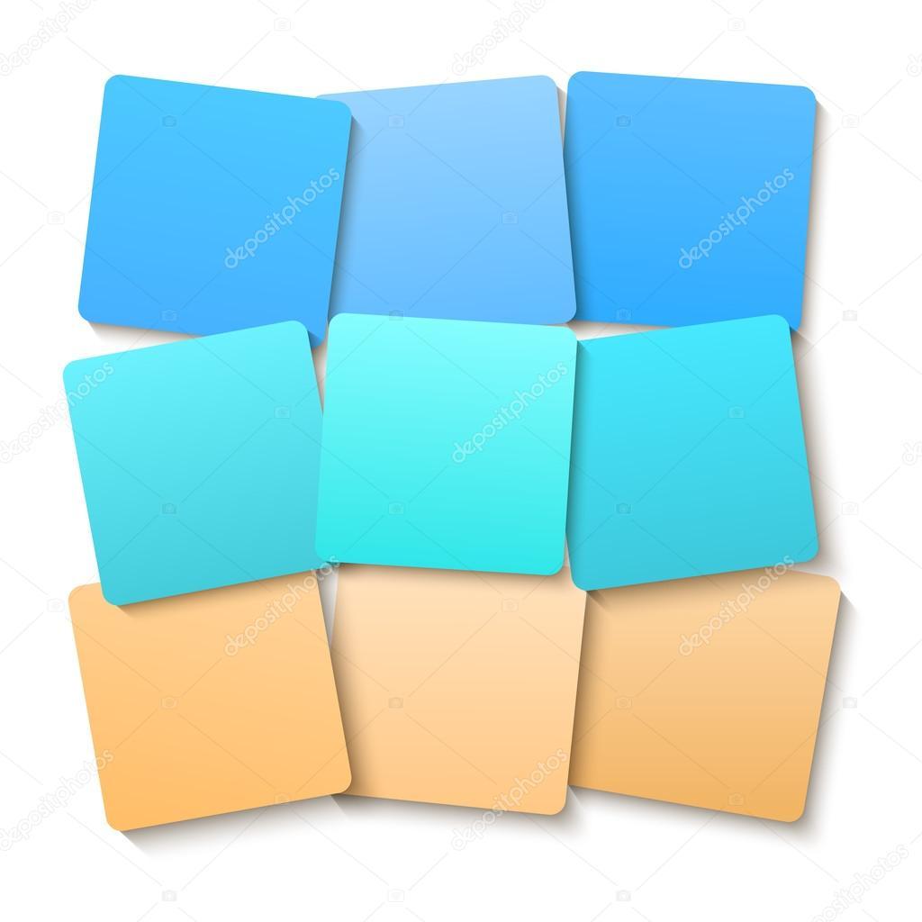offset squares color gradient beach