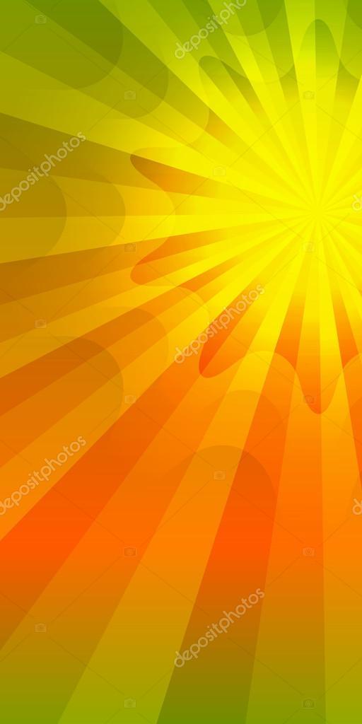 Effect of summer sunshine green orange background