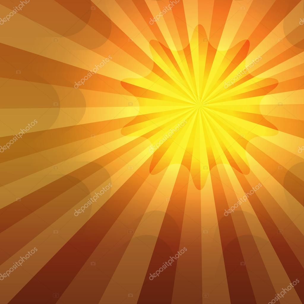 Hot summer sun shining gradient background