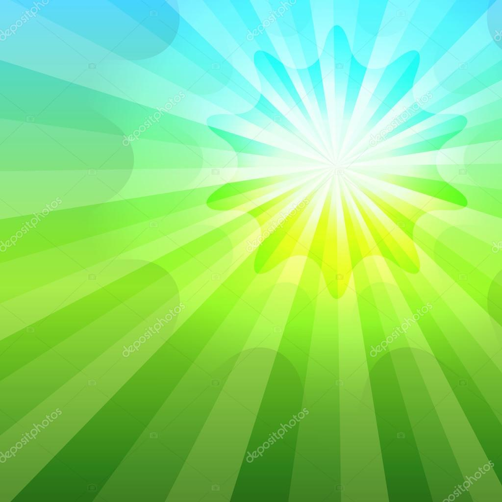 summer sun glow green meadow sky gradient background