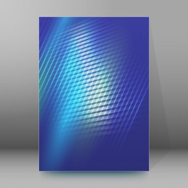 glowing blue background brochure cover page layout