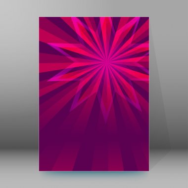 purple flower background brochure cover page layout