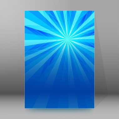 Star blue background brochure cover page layout