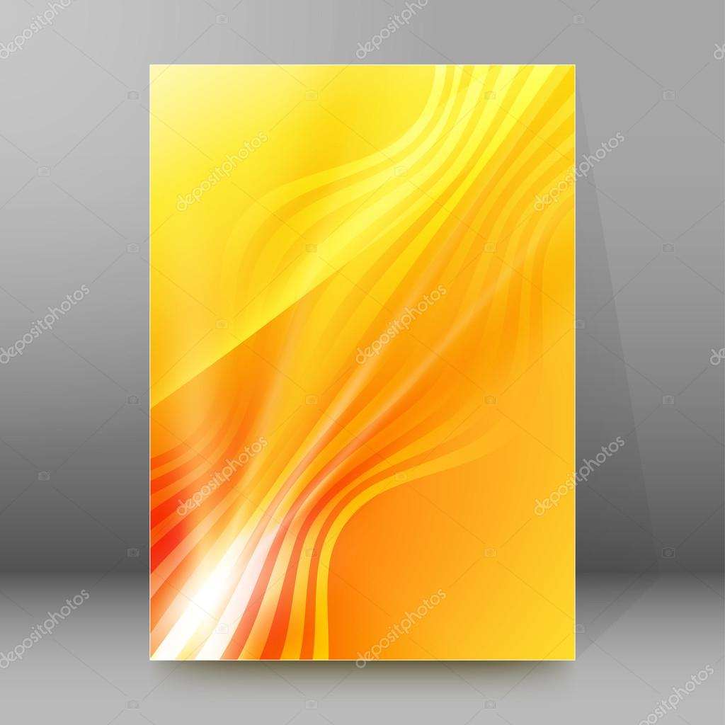 Book Cover Illustration Rates : Hot wave background report title page booklet layout