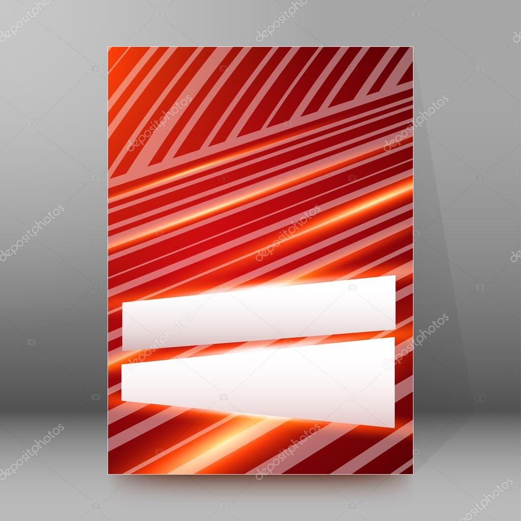 red stripes line background brochure cover page