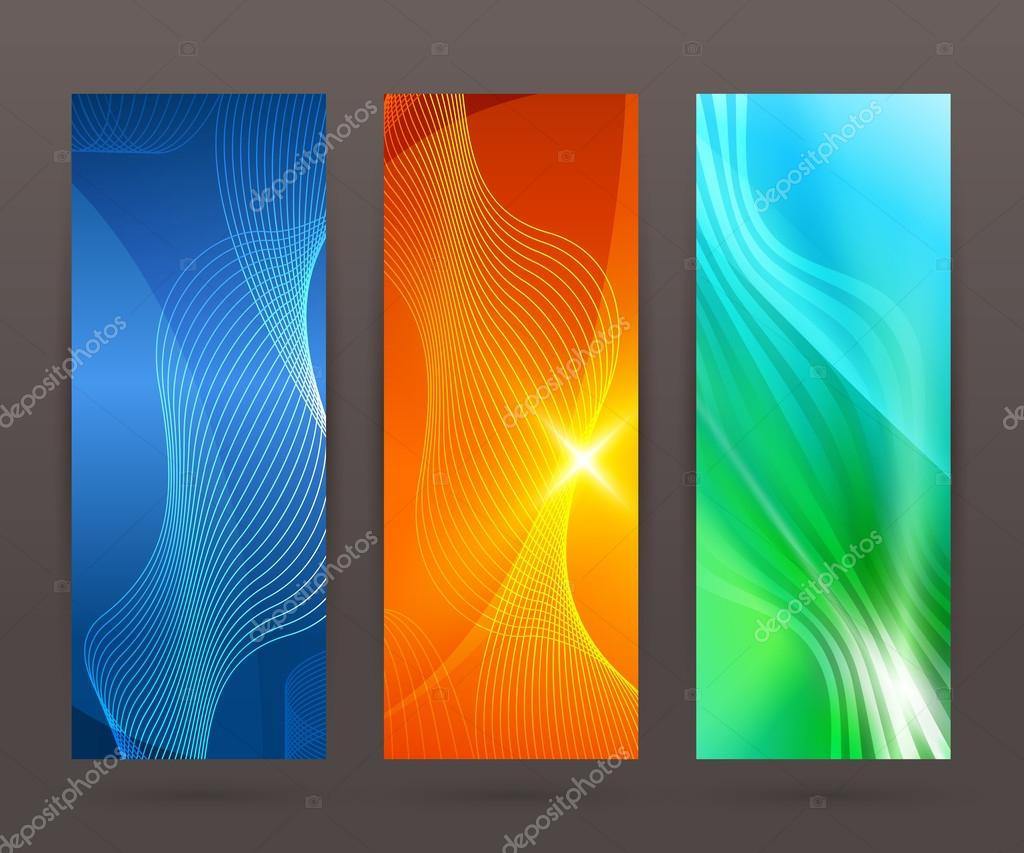 Set Vertical Banner Background Template Layout Flyer84