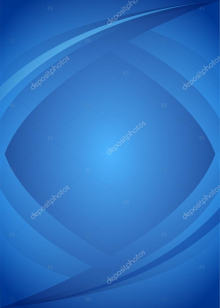 Bend Blue Lines Background Vertical Format A4 Page Stock Vector
