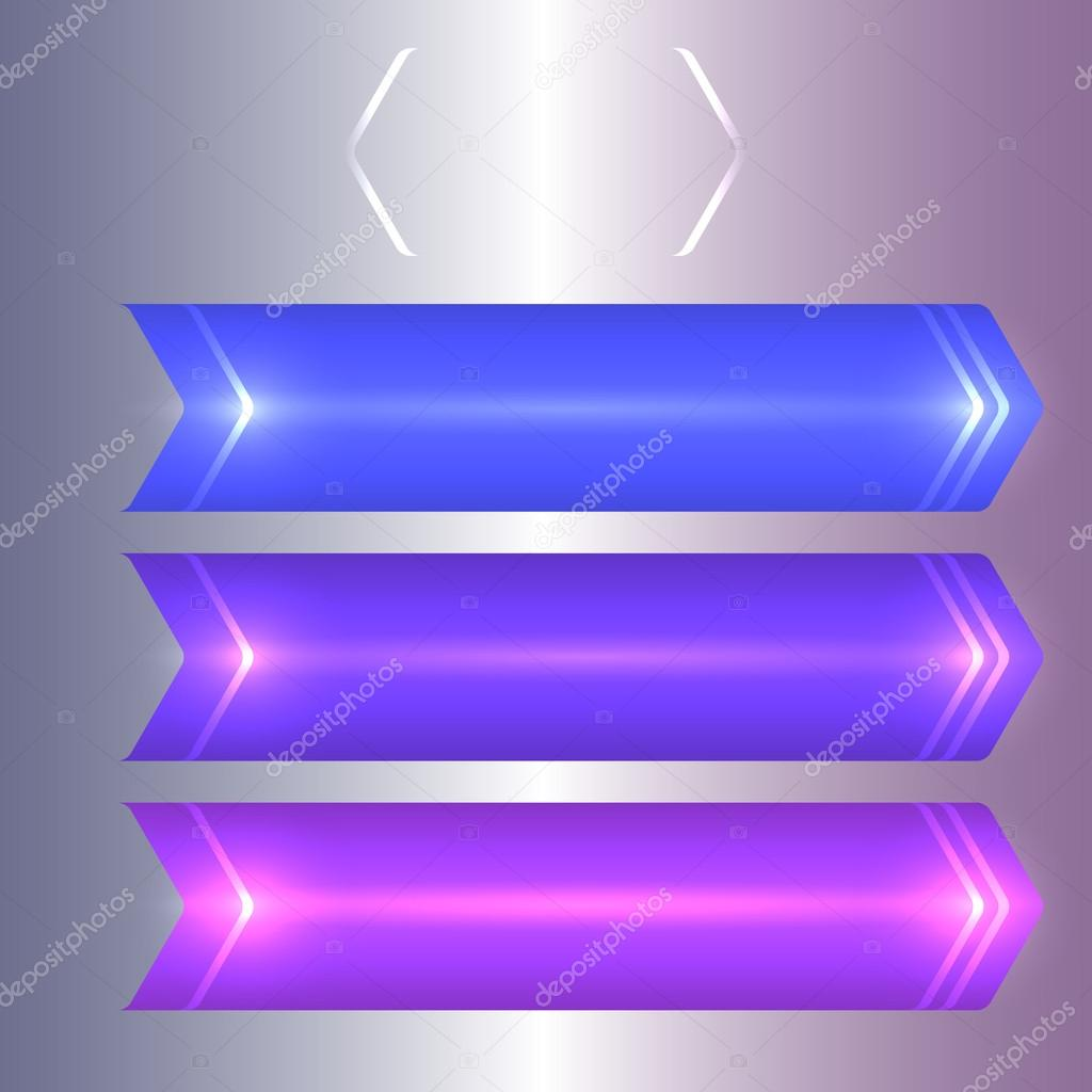 purple background set of steps guide light effect ストックベクター