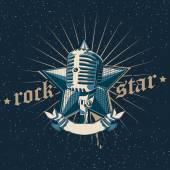 Rock star emblem