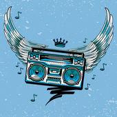 Fotografia Casella di boom disegnata  Ali