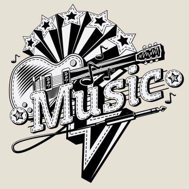 Decorative music emblem