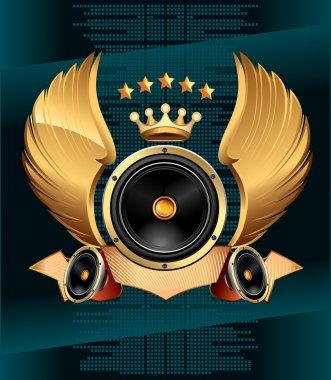Audio speaker emblem