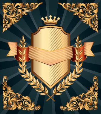 Retro ornate emblem