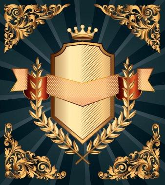 Retro ornate emblem