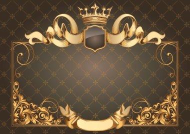 Golden vintage blank frame