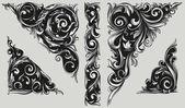 Dekoratív díszes design elemek