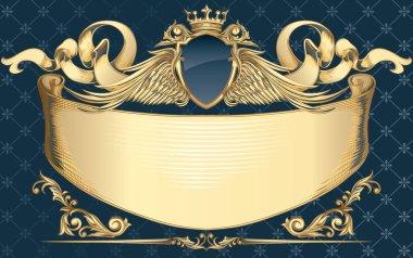 Decorative golden insignia
