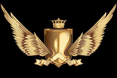 Golden winged insignia
