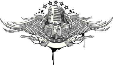 Microphone emblem design