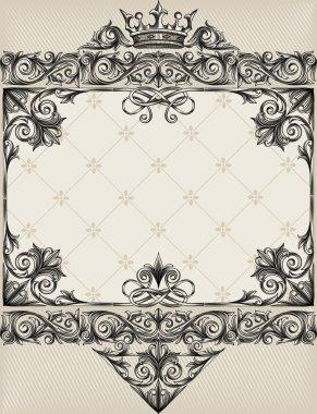 ornate vintage decorative background