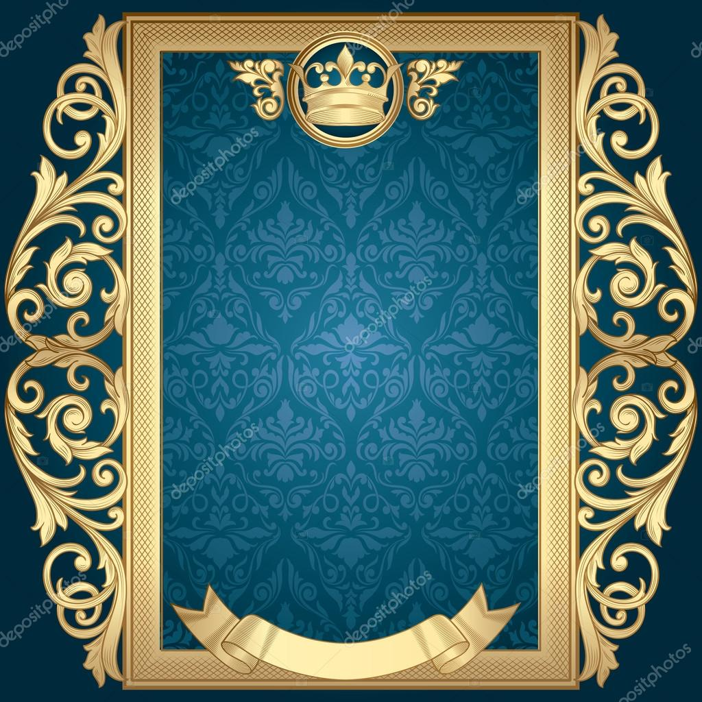 El Dorado Blue Card >> marco dorado vintage — Archivo Imágenes Vectoriales © alex ...