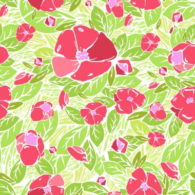 Seamless Flower pattern, vector graphics