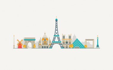 Paris abstract skyline