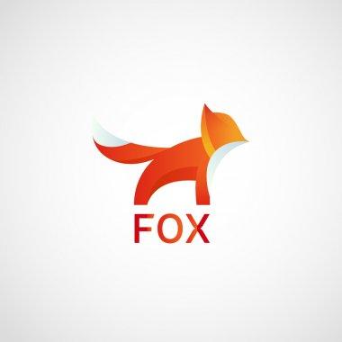 Fox Logo, abstract icon