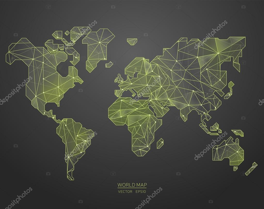 Low poly world map illustration point and geometrical form low poly world map illustration point and geometrical form structure line archivo imgenes gumiabroncs Image collections