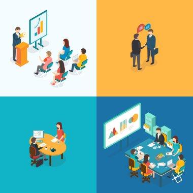 Presentation, Partnership, Job interview, Business meeting.