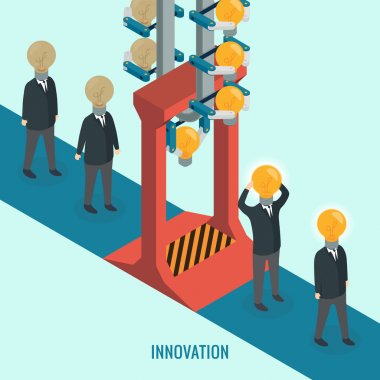 Creative light bulb with people, Business, Innovation, Idea concept.