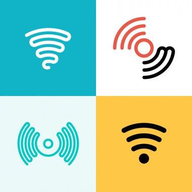 Wifi logo set. Wifi zone